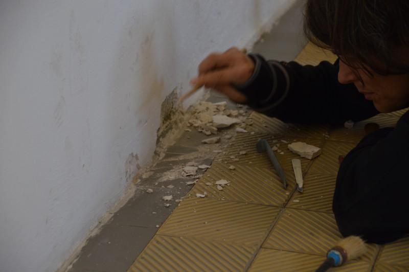 Bauhistorische Untersuchung im ehemaligen Hinrichtungsgebäude